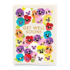 get well soon cards pansies get well soon card cad eau online