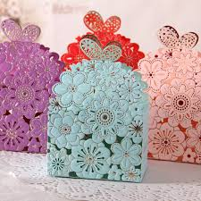 Blue Favor Boxes by 2016 Blue Lace Butterfly Laser Cut Wedding Favor Boxes Wedding