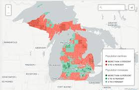Map Of Upper Peninsula Interactive Map See Population Changes In Your Community Bridge