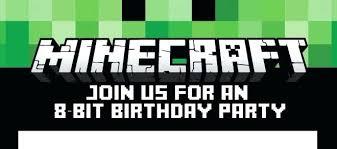 free printable birthday invitations minecraft printable minecraft invitations party invitations template party