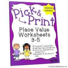 place value standard form worksheets place value worksheets grades 3 5 printables worksheets