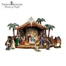 nativities kinkade magnificent blessings nativity collection