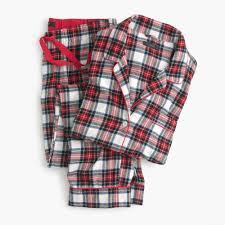 What Is A Tartan Flannel Pajama Set In Tartan Plaid Women Pajamas J Crew