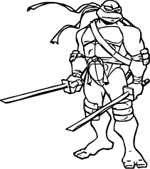 coloring pages ninja turtles leonardo bltidm