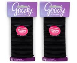 goody hair ties 2 x goody ouchless 51 large elastics pack black hair
