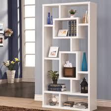 Contemporary Oak Bookcase Pflugerville Furniture Center Coaster Geometric Cubed