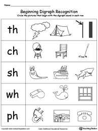 match pictures with beginning digraph sound picture that