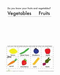 fruit or vegetable worksheet education com