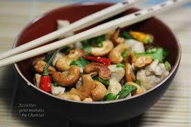 recette cuisine 3 poulet aux noix de cajou recette thaï cuisine asiatique