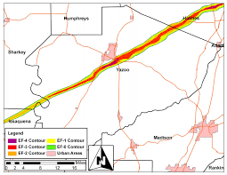 Jackson Ms Map Nws Jackson Ms April 24 2010 Violent Long Track Tornado