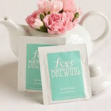 heart shaped tea bags personalized wedding tea bag favors