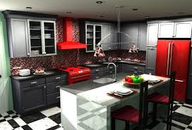 red kitchen cabinets with black appliances u2013 quicua com