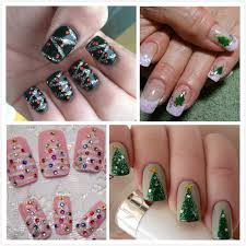simple easy christmas nailart designs ideas 2015 for beginners and