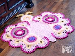 Free Crochet Patterns For Rugs Blizzard The Reindeer Rug Or Doily Corner Rug Pdf Crochet Pattern