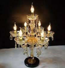 Table Lamp Brass Bulb Holder 2017 Modern Large 7 Light Champagne Gold Wedding Candlestick E14