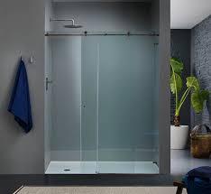 Glass Shower Sliding Doors Frameless Sliding Glass Shower Doors With Frameless Design Whalescanada