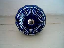 boutons de portes de cuisine bouton de porte en porcelaine bleue nuit rétro bouton de porte