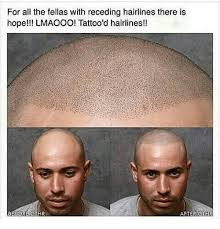 Receding Hairline Meme - for all the fellas with receding hairlines there is hope lmaooo