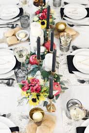 black white tablescape for thanksgiving celebrations at home