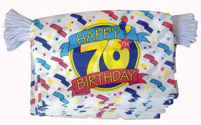 Happy Birthday Flags Happy 70th Birthday Bunting 9 Metres 30 Flags