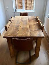 Chunky Rustic Dining Table Rustic Dining Table Ebay