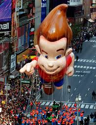 the jimmy neutron balloon floats broadway during the 75th