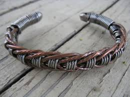 wire woven bracelet images Men 39 s wire woven cuff stainless steel and by cricketcapers jpg