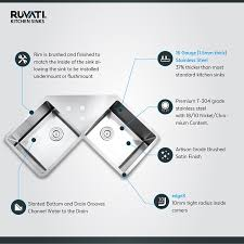 How To Measure For A Kitchen Sink by Ruvati Rvh8400 Undermount Corner Kitchen Sink 16 Gauge 44
