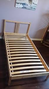 solid pine ikea single bed with sealy posturepedic u201cclean