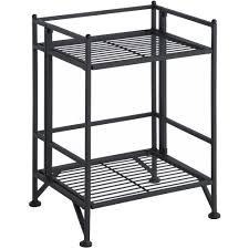 convenience concepts designs2go metal folding 2 shelf bookcase