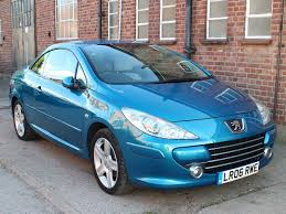 2006 peugeot 307 cc manual 5 speed leather blue 57 000 miles