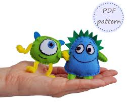 Halloween Monsters Pictures by Felt Monster Monster Pattern Felt Pattern Felt Monsters Pattern