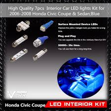 Interior Car Led 7pcs Blue Interior Car Led Lights Kit For 2006 2008 Honda Civic