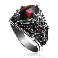 gemstone rings silver images Men 39 s vintage s925 sterling silver gemstone ring yoyoon jpg