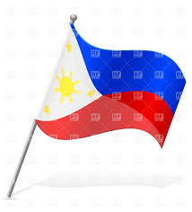 Philippines Flag Wavy Flag Of Philippines Royalty Free Vector Clip Art Image 38589