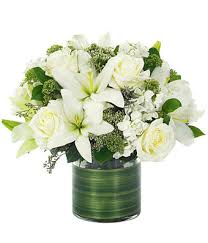 bouquet of lilies lovely roses bouquet all white at from you flowers