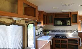 Painted Cabinet Doors Mountain Modern Two Toned Painted Rv Kitchen Cabinets