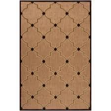 Overstock Outdoor Rug by Woven Tan Bernardino Indoor Outdoor Moroccan Lattice Rug 7 U002710