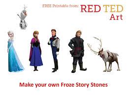 frozen story stones red ted art u0027s blog