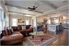ceiling fan crown molding kitchen design family room contemporary dallas beams brown leather