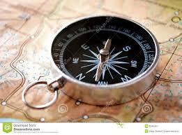 Compass Map Handheld Compass On A Map Royalty Free Stock Photography Image