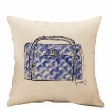 sale fashion home decor print cotton linen square pillow cover