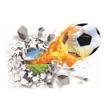 aliexpress com buy 50 70cm firing football through wall stickers