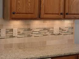 kitchen great brown diagonal tile backsplash with red painting