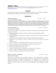 Resume Summary Examples For Software Developer by Software Developer Resume Software Developer Resume Exxample