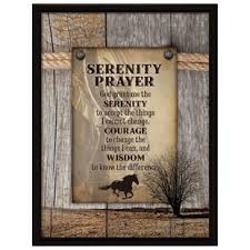 serenity prayer picture frame prayer wall wayfair