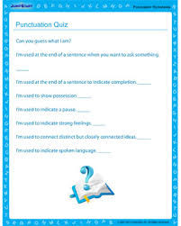 punctuation quiz u2013 free online punctuation printables u2013 jumpstart