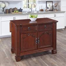 Kitchen Island Red Home Styles Santiago Cognac Kitchen Island With Storage 5575 94