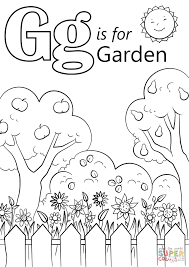 letter g is for garden coloring page free printable coloring pages