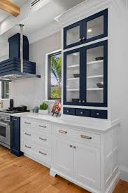 navy blue and white kitchen cupboards navy blue white transitional kitchen cabinets